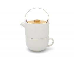Tea for one Umea blanc avec couvercle