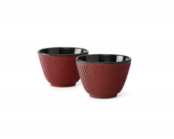 Tasses en Fonte S/2 Xilin Rouge
