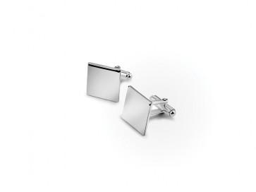 Boutons de manchette carrés 15mm Argent 925