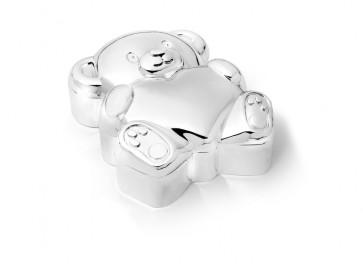 Boîte pour dents Ours avec Coeur arg/laq