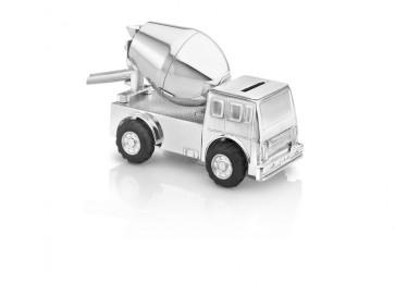 Tirelire Camion de ciment arg./laq.