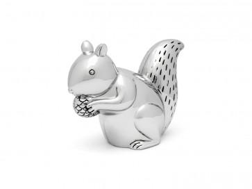 Tirelire Écureuil couleur argent