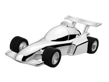 Tirelire voiture course 15,4x7,2x4,8cm arg./laq.