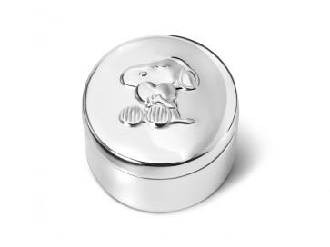 Boîte à dents Snoopy arg./laq.