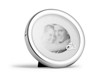 Cadre photo jour du mariage argenté laqué