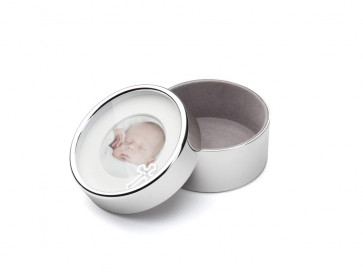 Boîte ronde Baptême arg/laq