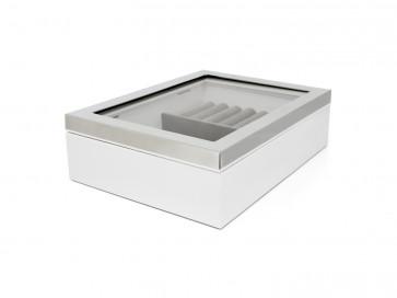 Boîte à bijoux fenêtre+bordure couleur arg