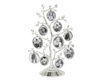 Cadre arbre généalogique (10) arg./laq.