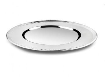 Assiette de présentation Perle argenté 33cm