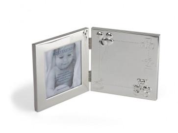 Cadre photo Happy Baby 10x10cm, arg./laq.