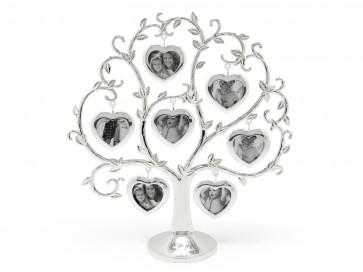 Cadre arbre généalogique (7), argenté laqué