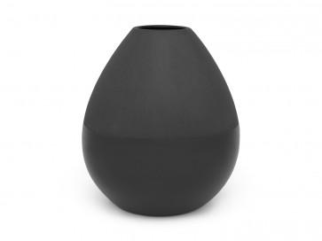 Vase Como noir (mat/brillant), large, grès
