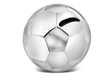 Tirelire Ballon de football couleur argent