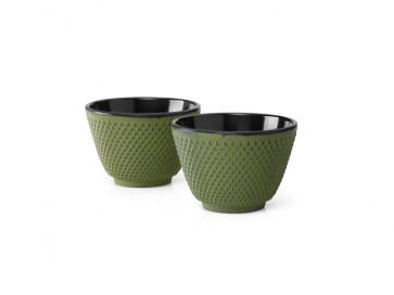 Tasses en Fonte S/2 Xilin Vert