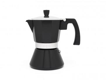 Cafetière italienne à Espresso Tivoli pour 6 tasses, noir