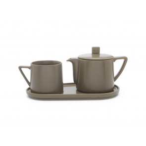 Tea-for-one set Lund, gris chaud