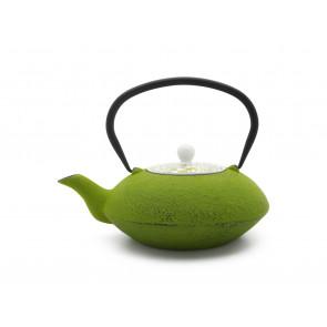 Théière Yantai 1,2L, vert, avec couvercle en porcelaine