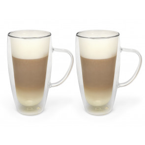Verre à cappuccino/latte macchiato à double paroi 400ml, s/2