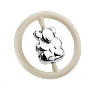 Hochet Ours dans l'anneau arg B90