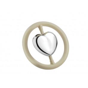 Hochet Cœur dans l'anneau arg B90