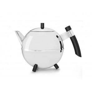 Duet® Design Théière Meteor, 1,2L, poignée noire