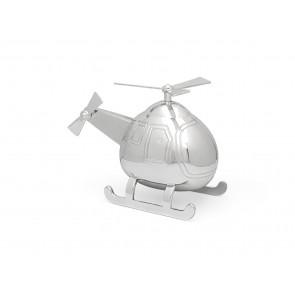 Tirelire Hélicoptère couleur argent
