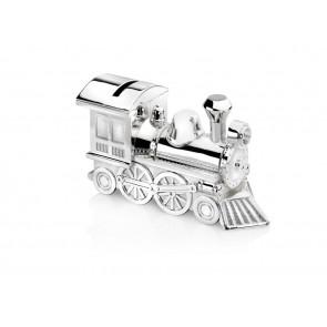 Tirelire Locomotive 15,5x5,5x8cm arg./laq.