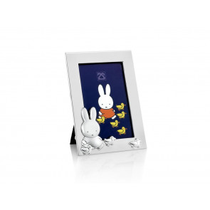 Cadre photo Miffy + canetons 6x9cm arg/laq