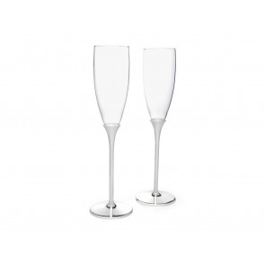 Verres de champagne Smooth s/2 arg/laq