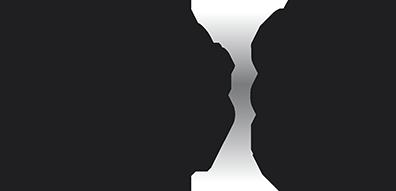 Photophore Oblique, set de 3, acier inox.