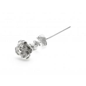 Rose, argenté laqué 33,5 cm