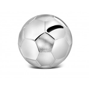 Tirelire Ballon de football 8,5x8,5x8cm arg./laq.