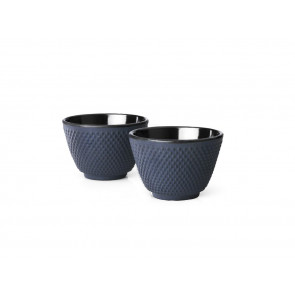 Tasses en Fonte S/2 Xilin bleu
