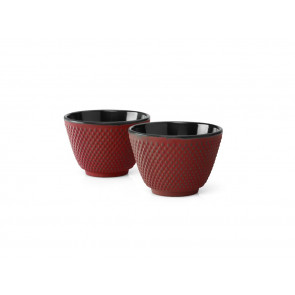 Tasse à thé Xilin, rouge, set de 2