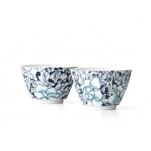 Yantai tasse à thé, set de 2, blue fonçé